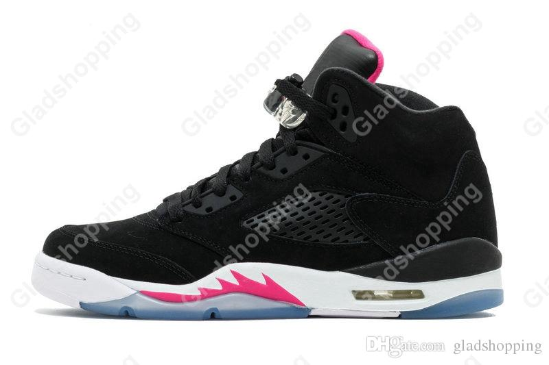 5 Premium Pinnacle Black Hyper Pink Red Blue Suede White Cement Camo Women Men Basketball Shoes Sneakers 5S Basket Sport