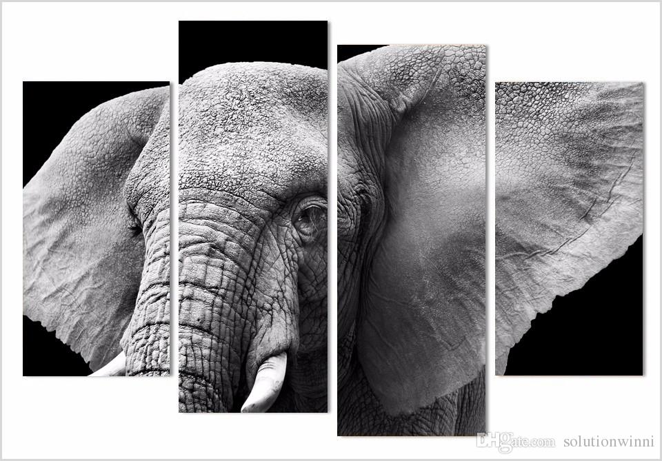 HD imprimé Elephant Tusks Tusks Tusks Peinture sur Toile Décoration de la pièce Imprimer Affiche Picture Toile Mur Art Peinture