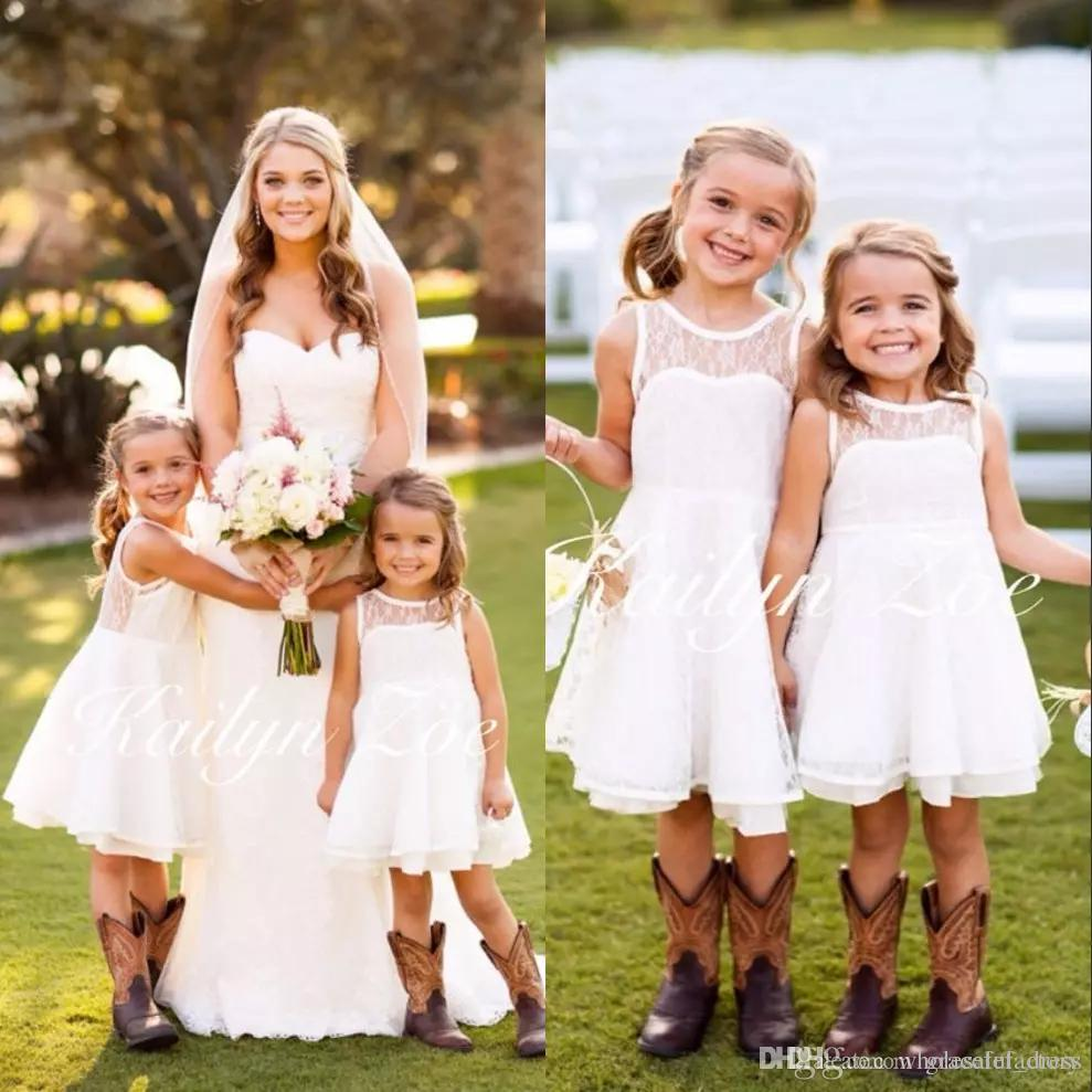 2017 new emma lace white flower girl dresses for toddler girls 2017 new emma lace white flower girl dresses for toddler girls wedding party short birthday first ombrellifo Images