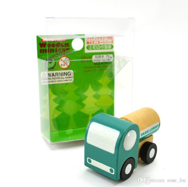 12 adet / grup Mini ahşap araba / uçak Eğitici Yumuşak Montessori ahşap oyuncaklar çocuklar için hediye kutusu ile doğum günü hediyesi boys için XT