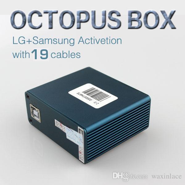 Wholesale Original Octopus Box Voll aktiviert für LG und Samsung 19 Kabel inklusive optimus Kabelsatz Unlock Flash Repair Tool