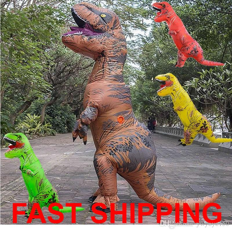2018 Adult Inflatable Dinosaur T Rex Costume Jurassic