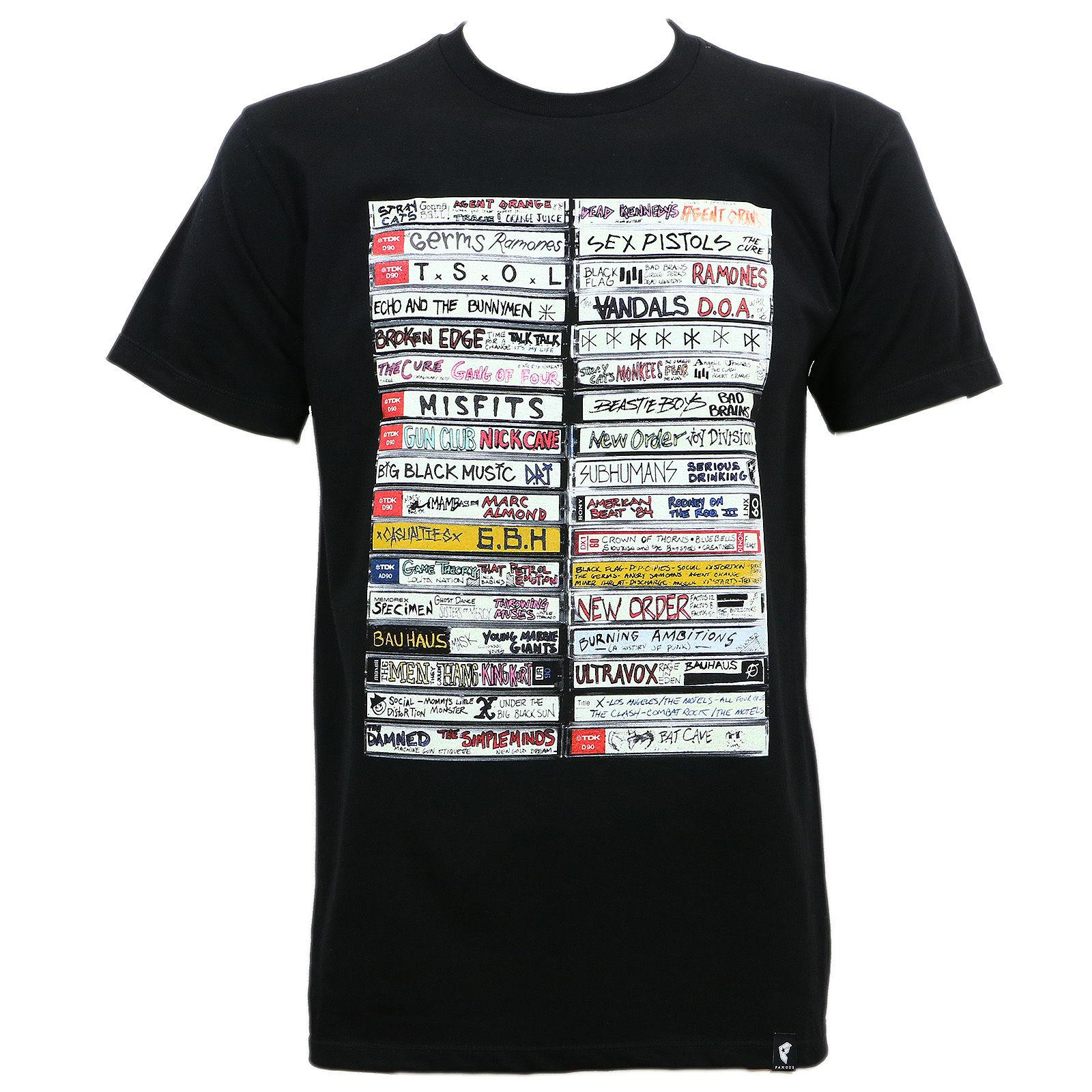 famous stars straps punk tapes t shirt black s 3xl new 100