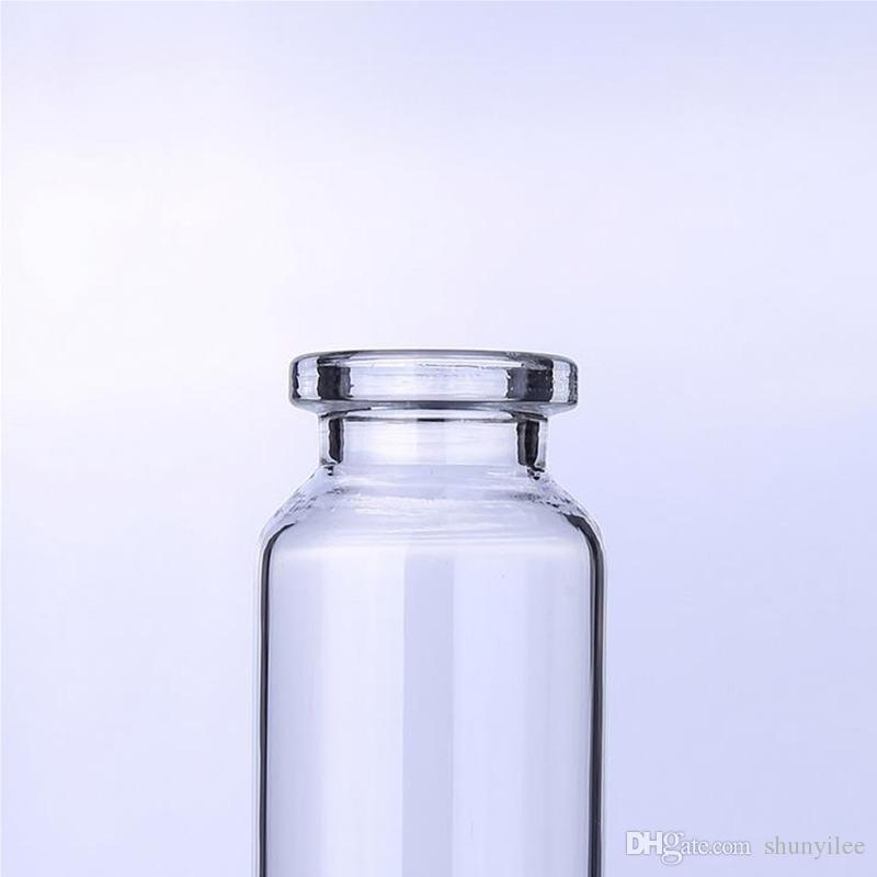 Fiala in vetro ambra trasparente da 20 ml con tappo centrale a strappo 20CC Contenitori in vetro liquido trasparente medicina F2017309