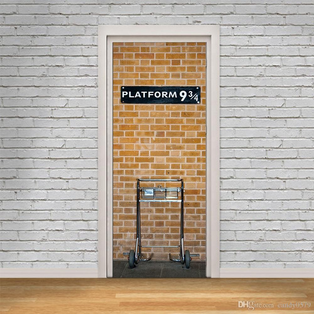 The Platform 9 3 4 Door Stickers 3d Pvc Self