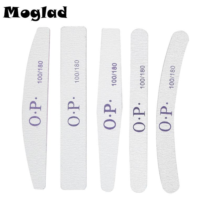 Wholesale- Moglad 5 Designs Different Shapes 100/180 Nail File ...