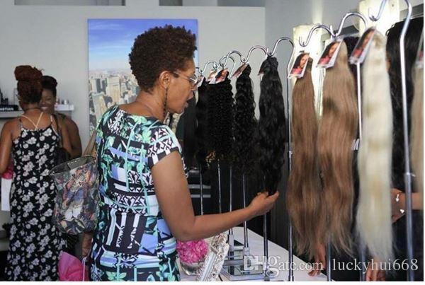 Hot sale wig display stand women hairpiece display holder rack mirror surface handbag bags purse hat scarf Clothing hanger hook showing
