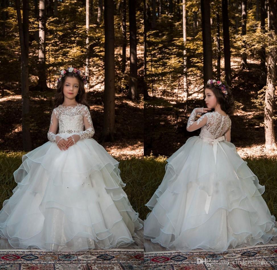 Rosa Und Gold Blume Mädchen Kleid Für Hochzeiten Festzug Satin Erste Heilige Comunion Mädchen Kleid 2019 Weddings & Events