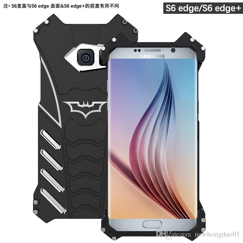 best service b9d5b 7055f R-JUST batman metal aluminum Shockproof Cover case for samsung galaxy S8/S8  plus/S7/S7 edge/S6 edge Armor anti-knock phone cases