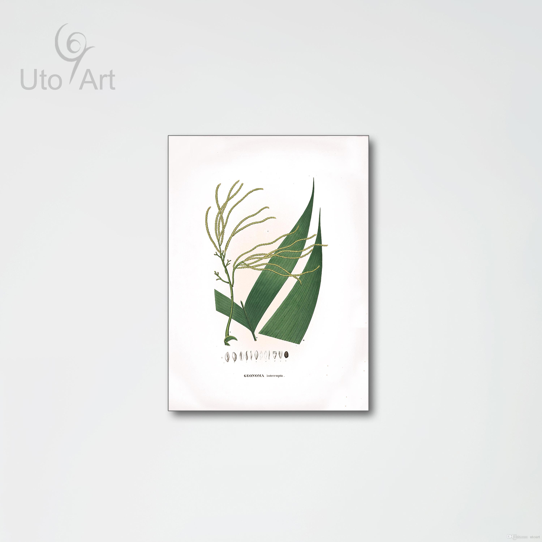 Satın Al Modern Avrupa Yaprak Boyama Bitki Tuval Duvar Sanatı