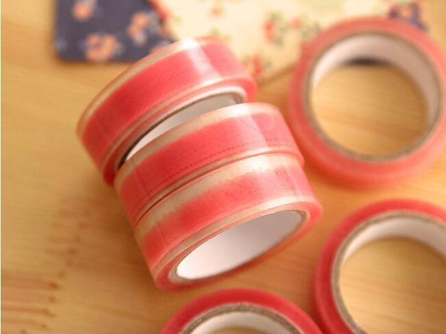 2016 random styles pink lace pvc washi tape masking adheisve tape DIY album decoration tape kawaii scrapbooking stationery stickers