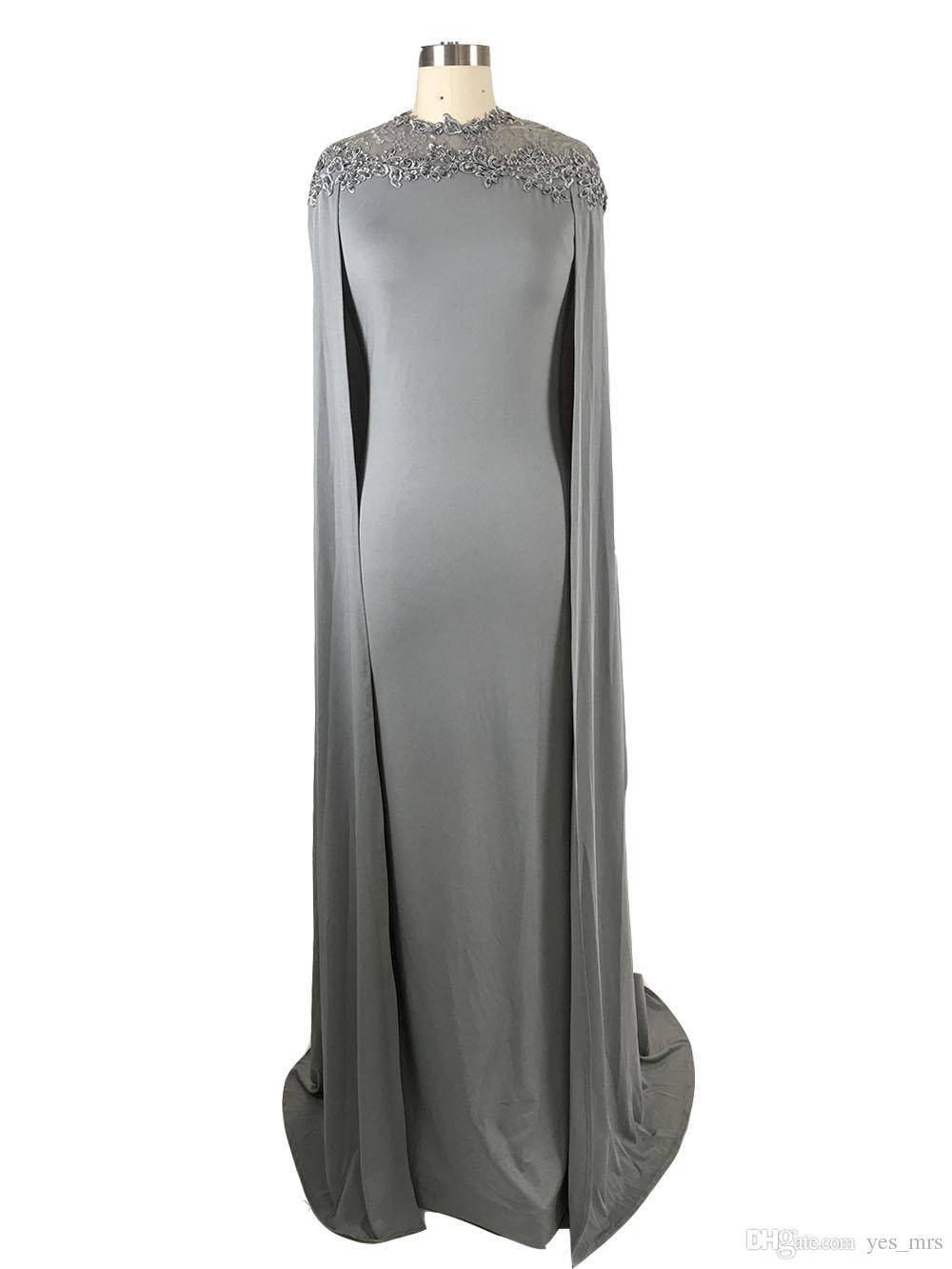 2017 Imagen real de largo con el cabo del cordón de la madre de la novia viste el partido formal más el tamaño de vestidos de baile para el vestido de la novia de la boda