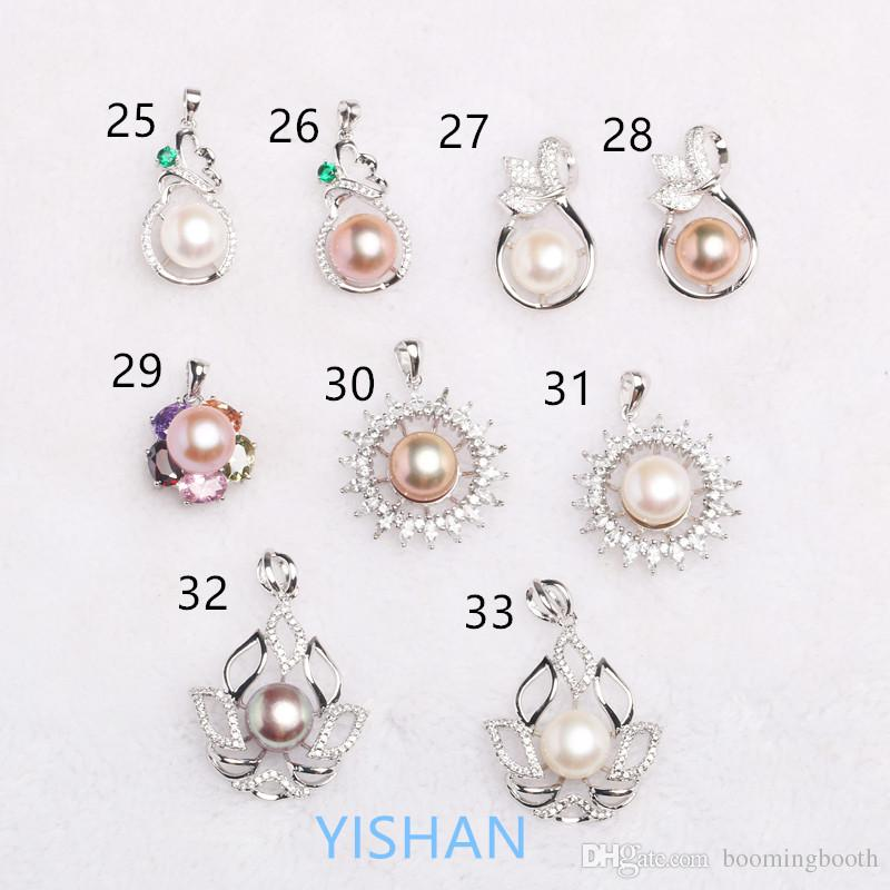 New Style Wholesale Various Beautiful Styles 925 Sterling Pendant Cage Pendant Settings for Pearls Accessories Hot Sales