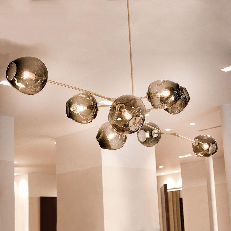 Modern Pendant Lights Bubble Molecular Glass Ball Pendant