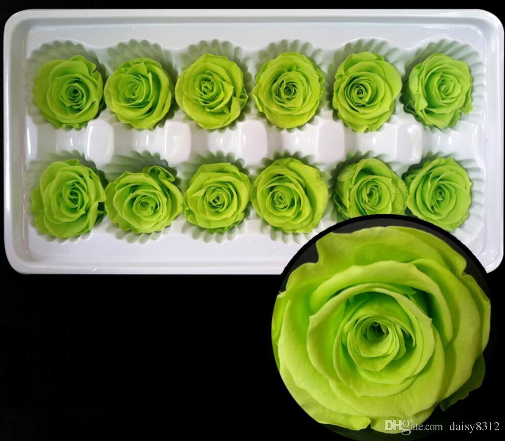 3-4cm Preserved Flower Rose Bud Head For Wedding Party Holiday Birthday Velentine's Day Gift Favor