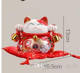 céramique maneki neko tirelire décoration de la maison artisanat chambre décoration en céramique kawaii ornement porcelaine figurines chat