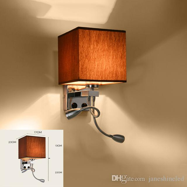 2018 Modern Wall Sconce With Switch Wall Bed Lamps 1 Or 1w Led ...