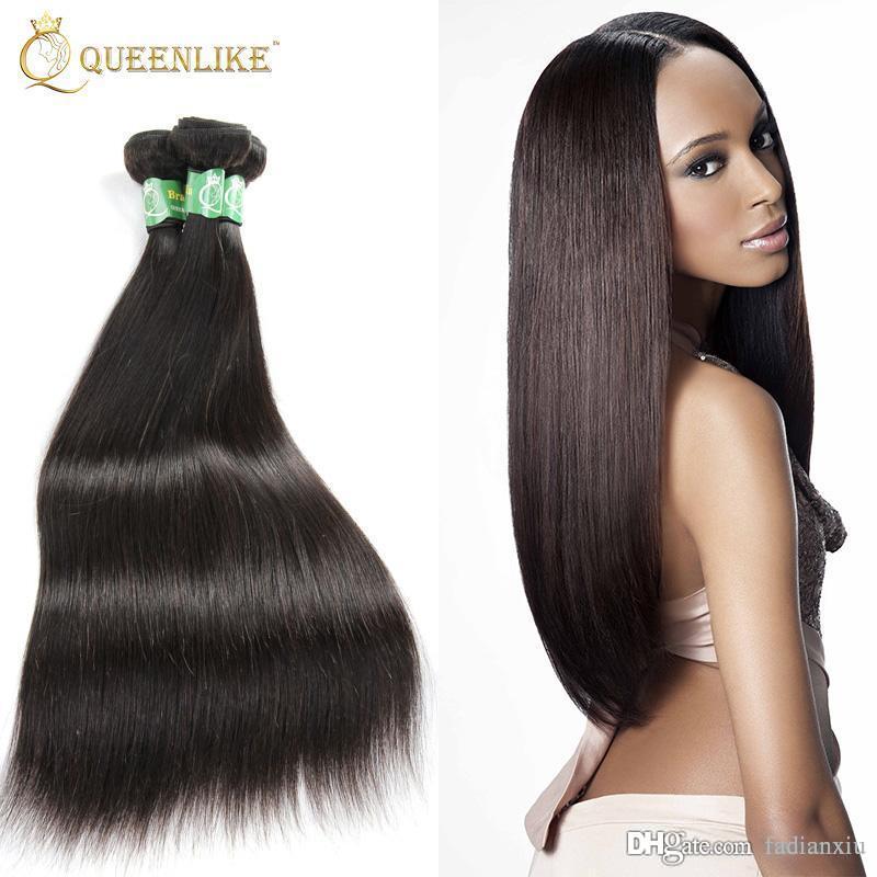 European Virgin Hair Weave Bundles Silk Silky Straight 1b Sew In