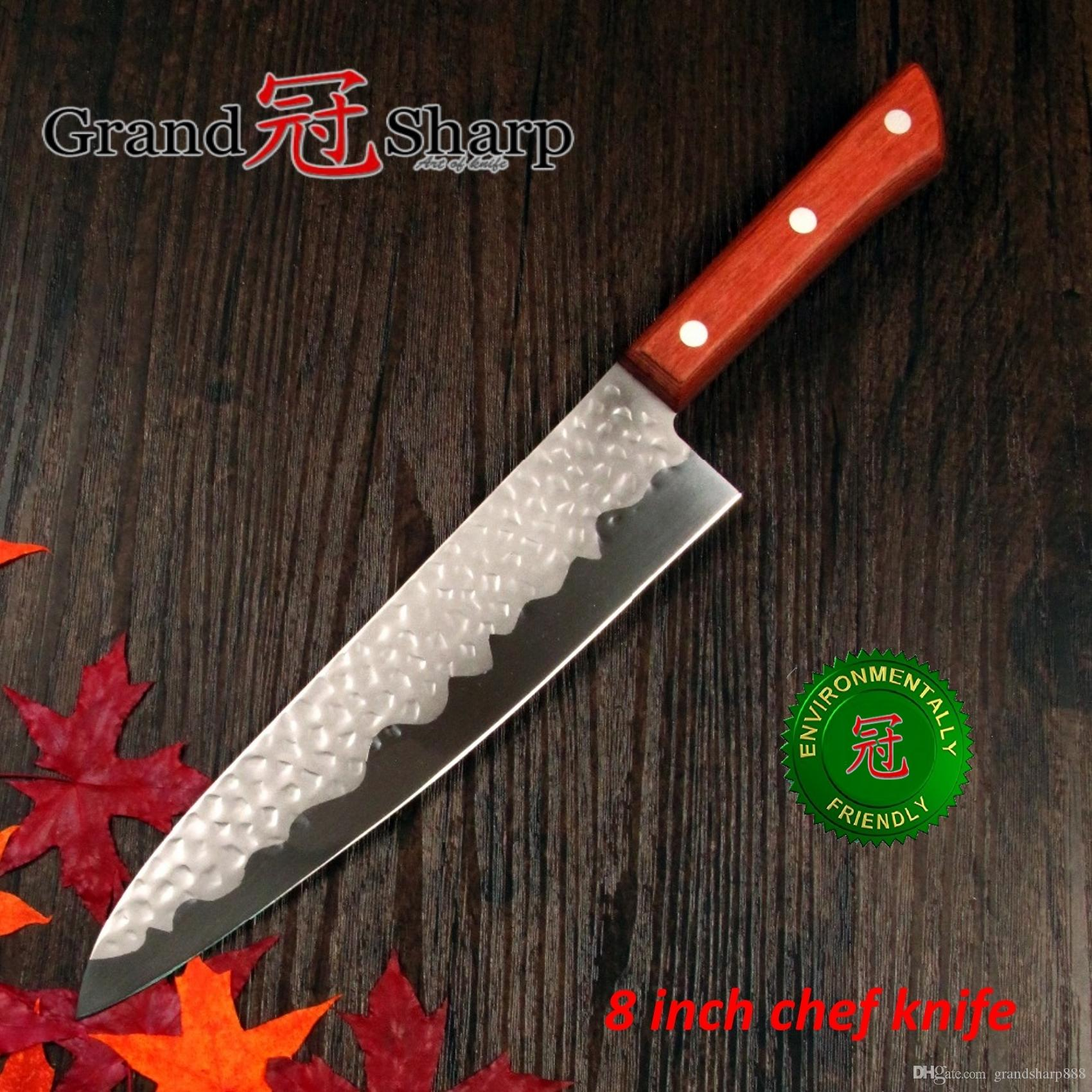Grandsharp 8 Inch Chef Knife German Stainless Steel 14116 Hammered