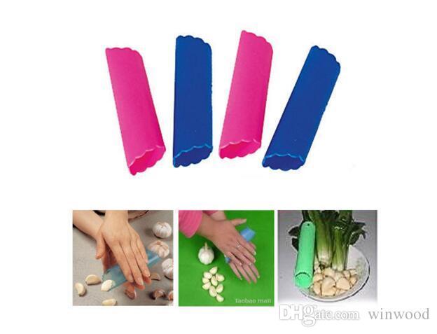 Magic Silicone Garlic Peeler Gadgets Peel Vegetable Easy Useful Kitchen Tools Garlic Skin Remover Home Decoration DHL Free