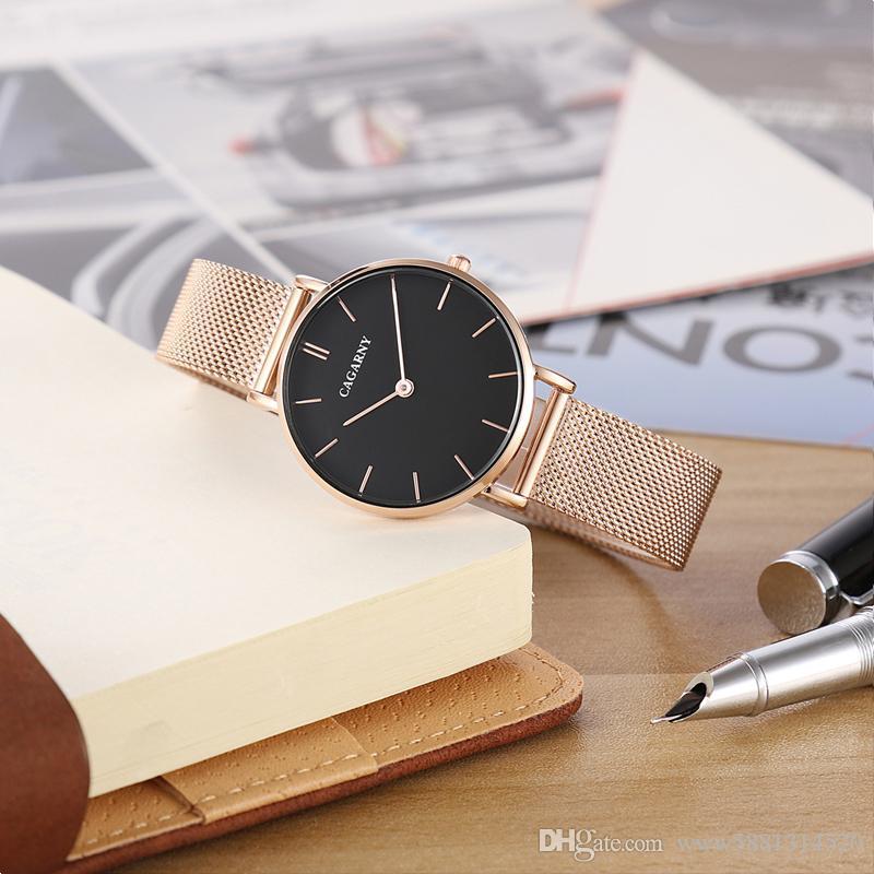 a127f57a9c91 Watch Women Rose Gold Luxury Brand Atmos Clock Women S Wastches Fashion  Quartz Wristwatches Steel Mesh Bracelet Watch DW Gift Montre Femme Online  Shopping ...