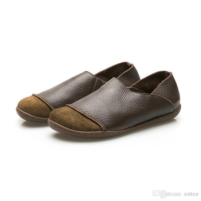 Chaussure Homme En Cuir Nouvelle Mode Qualité Supérieure Vente Chaude Confortable Respirant Mocassins En Cuir Fait À La Main 4vFcJj03Wn