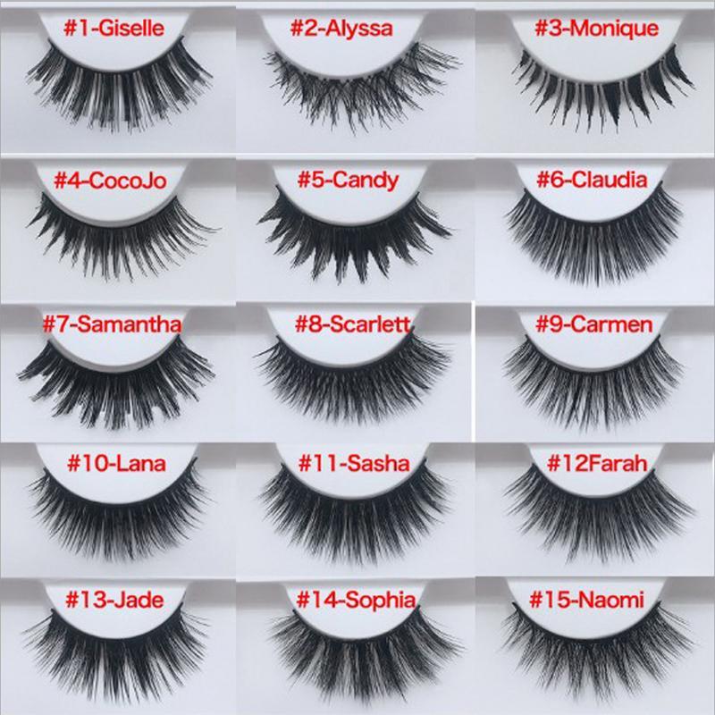Mink Eyelashes 3D Mink Lashes Thick HandMade Full Strip Lashes Cruelty Free Korean Mink Lashes 19 Style False Eyelashes