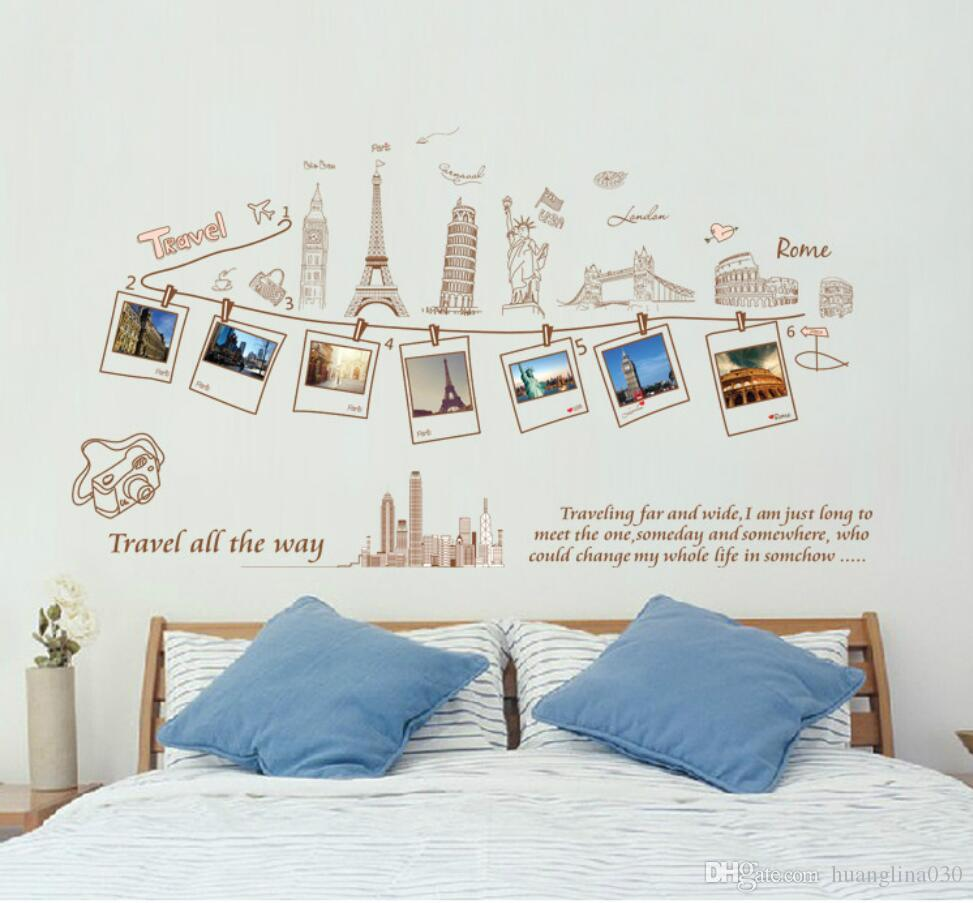awesome wholesale pvc removable large wallpaper world map ...