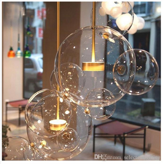 clear glass pendants lighting. Post Modern Bolle Pendant Lamp Led Light Clear Glass Bubble Ball  Fixtures Indoor Lighting Lustre Luminaria Hang Clear Glass Pendants Lighting L