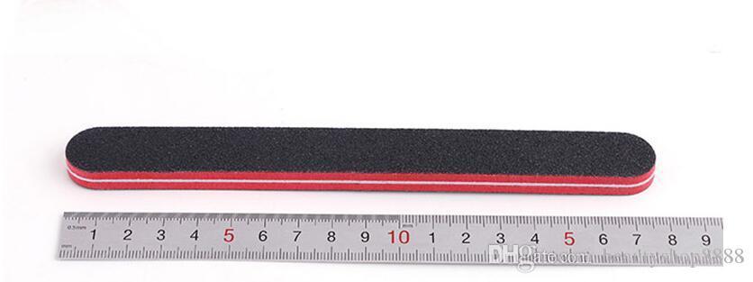 J3 D081 Nails Files Sanding Buffer Black Emery Red Heart Nail Art File Block طريقتان مخازن بالجملة رخيصة