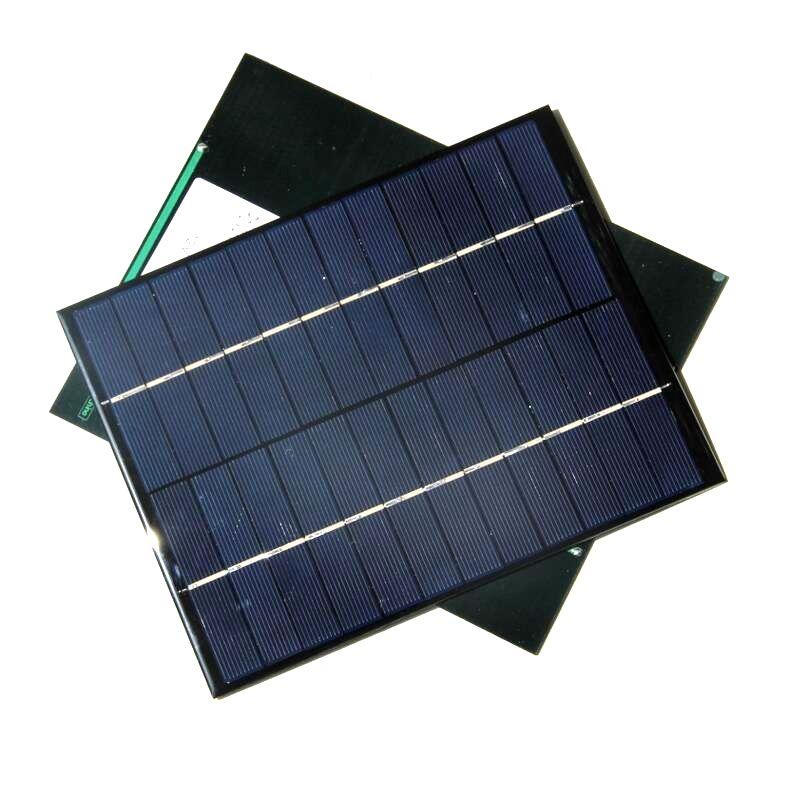 5.2W 12V Solarzelle Solarmodul Polykristalline DIY Solar Panel System Grün Power 210 * 165 * 3 MM Hohe Qualität