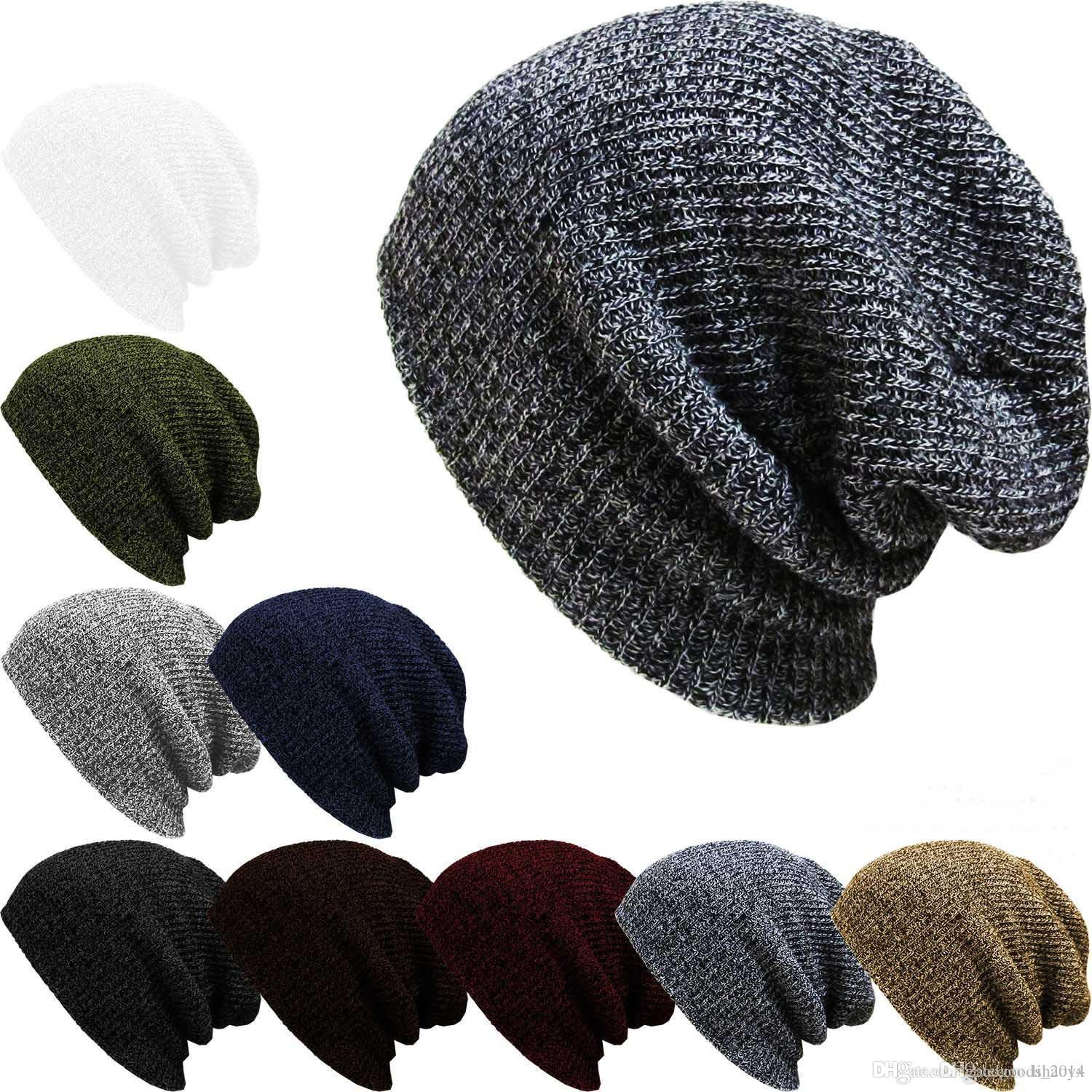 a5770d1e656 Knit Men S Women S Baggy Beanie Oversize Winter Warm Hat Ski Slouchy Chic  Crochet Knitted Cap Skull B274 Cool Hats Cloche Hat From Lihaoyx