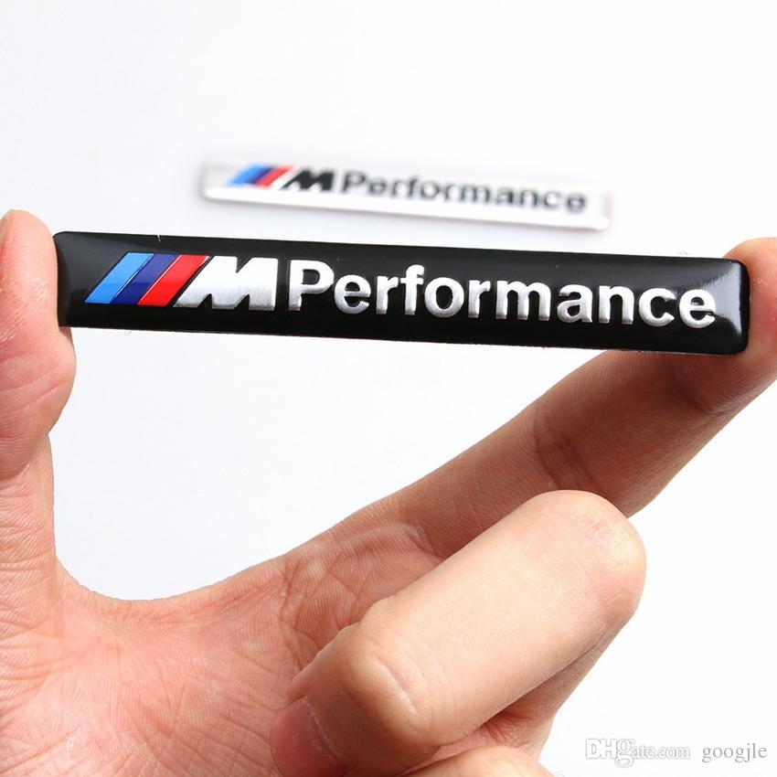 /// الأداء m السلطة 85x12 ملليمتر موتورسبورت المعادن شعار سيارة ملصق الألومنيوم شعار الشواية شارة لسيارات bmw e34 e36 e39 e53 e60 e ...