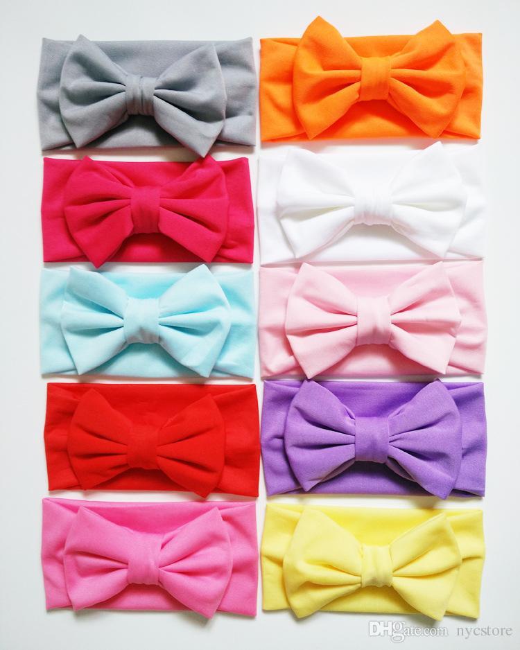 Baby Kids Girl Bambino Toddler Infant Flower Floral Bow Hairband Turban Knot Headwear Headwear Accessori capelli
