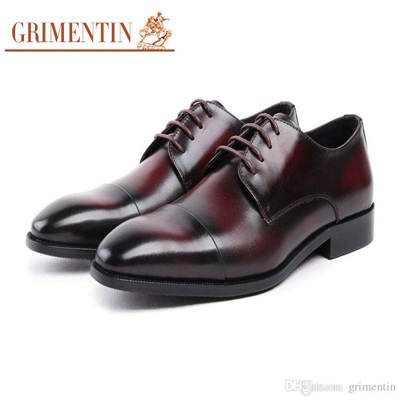 Nouveau 2018 Hommes Robe Oxford Chaussures D'affaires Formelle Hommes Marron Noir YKXYLFI