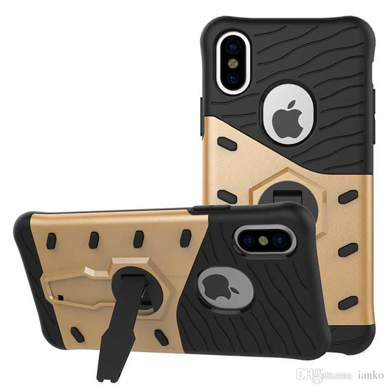 For Apple iPhone X Xs-Xr-Xs Max Sniper Case Armor Plastic Silicone Phone Bags Cover for iPhone 8-7-6-6s Plus Bumper Coque Kickstand Fundas