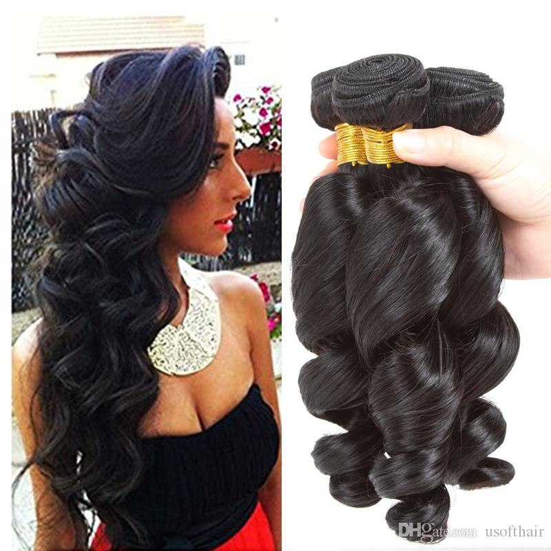 Best Quality Brazilian Virgin Real Human Hair Extension Loose Wave