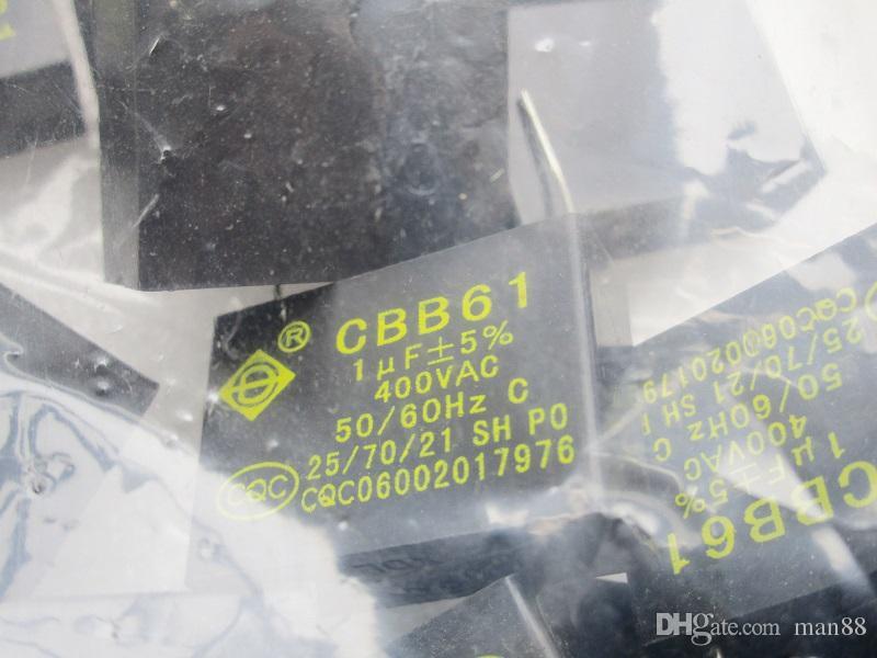 Aire acondicionado ventilador del condensador CBB61 450V 1UF clavijas en la placa
