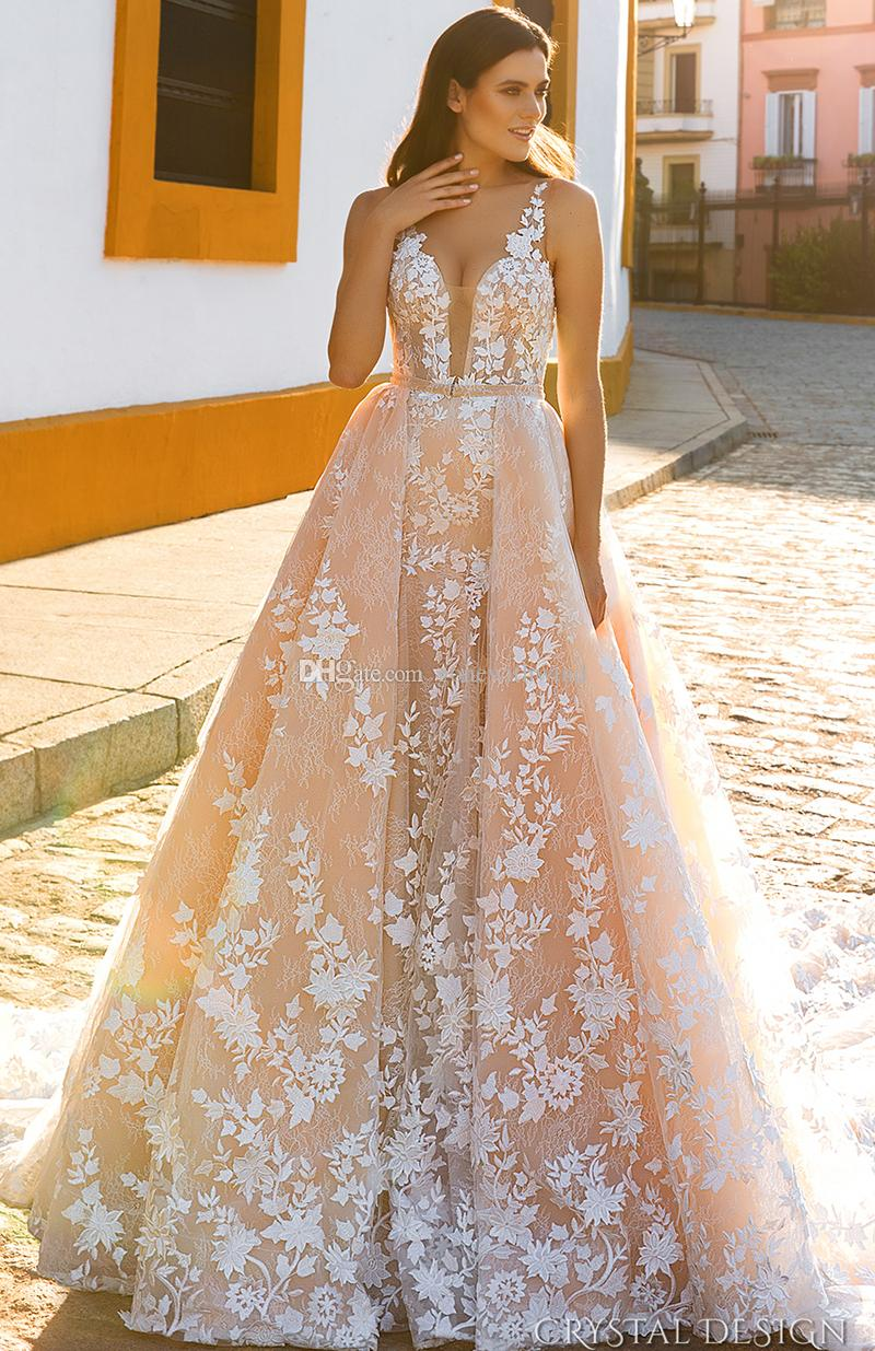 Discount datchable skirt royal train blush wedding dresses 2017 see larger image junglespirit Image collections