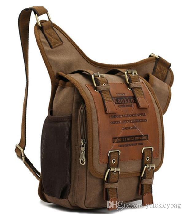 Lienzo Messenger bandolera Bolso Messenger Bags Militar Vintage Bolsas de lona Laptop Satchel Diseñador Bolsos Bolsos de hombro