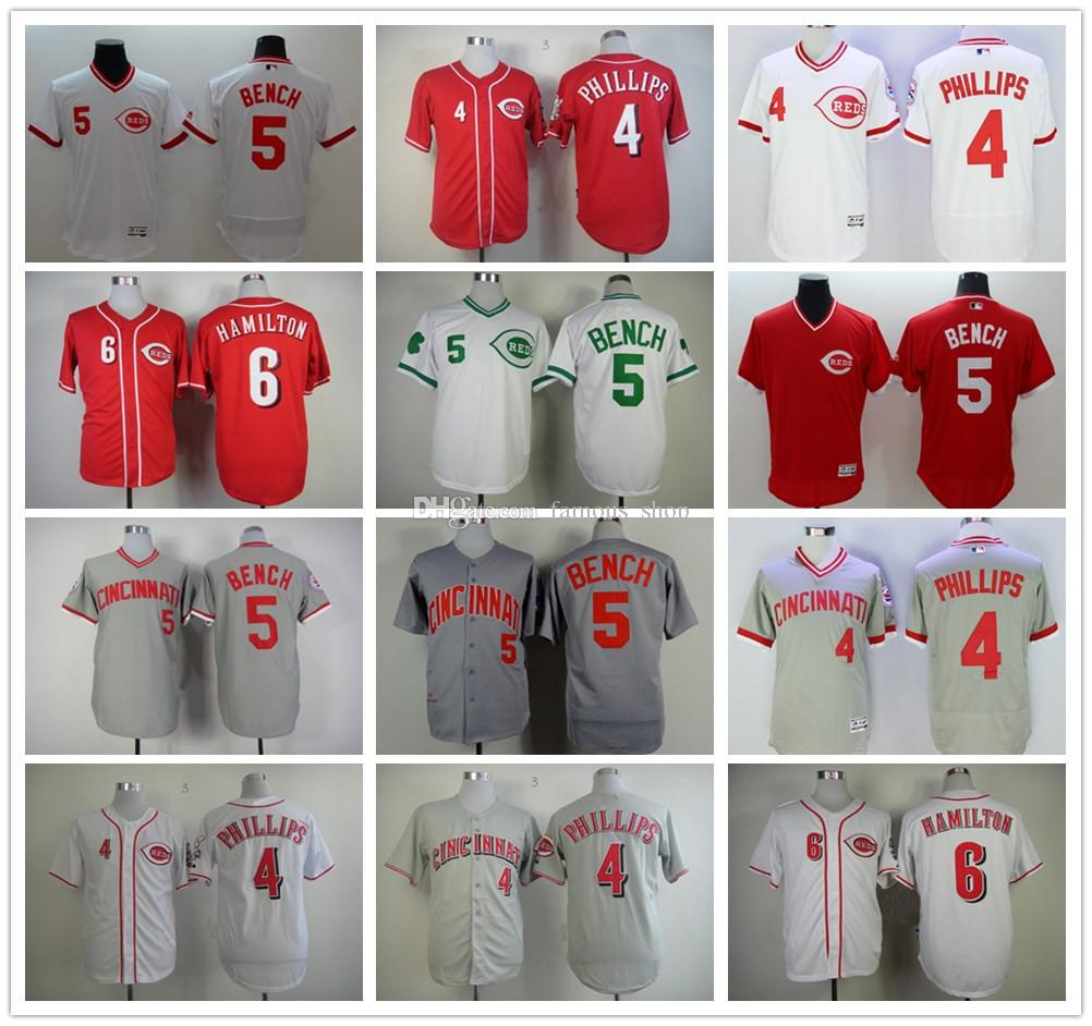 2017 cheap cincinnati reds 4 brandon phillips 6 billy hamilton jersey stitched red white gray 5