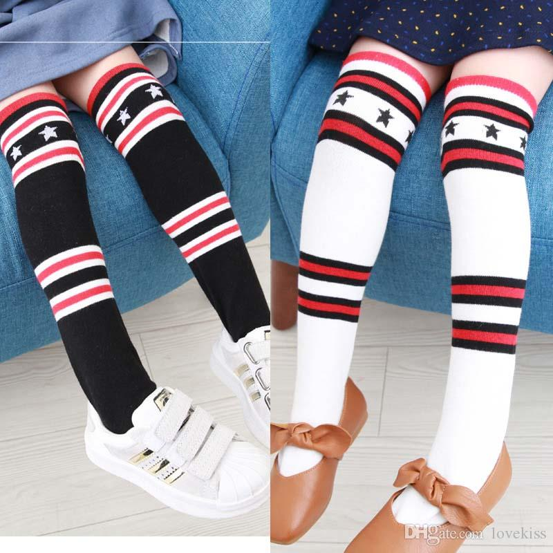 e3cd20c8d Star Stripe Children Socks Boys Girls Knit Knee High Socks New Students  Socks Cotton Best Kids Sock Toddler Clothes Wear Baby Gift A1083 Thorlos  Socks ...