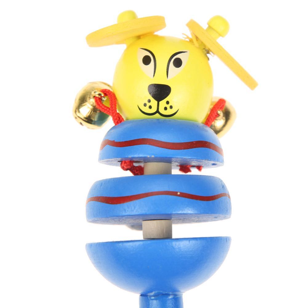 Baby Spielzeug Rasseln Holz Aktivität Glocke Stick Shaker Baby Spielzeug für Neugeborene Kinder Handys Rassel Baby Spielzeug Zufällig