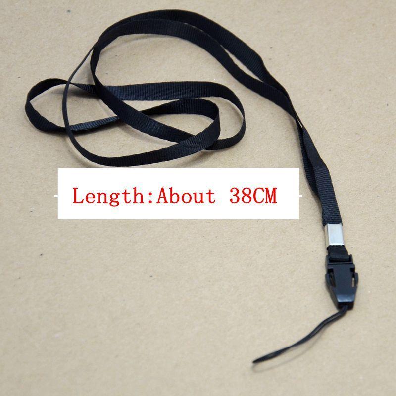long black Nylon Wrist Hand Strap Lanyard for Mobile Cell Phone Camera USB MP4 PSP Straps new