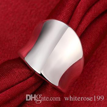 Wholesale  - 小売価格クリスマスプレゼント、送料無料、新しい925銀ファッションリングR52