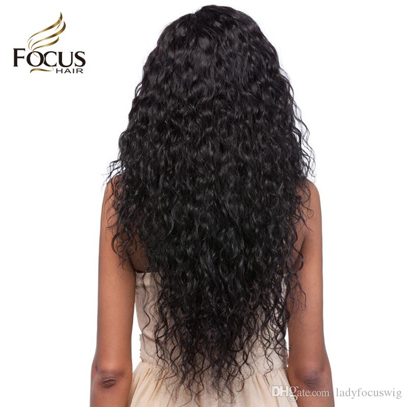 Water Wave Gluelesss Full Lace Human Hair Wigs Virgin Brazilian Curly Wig Lace Front Wigs For Black Women With Baby Hair