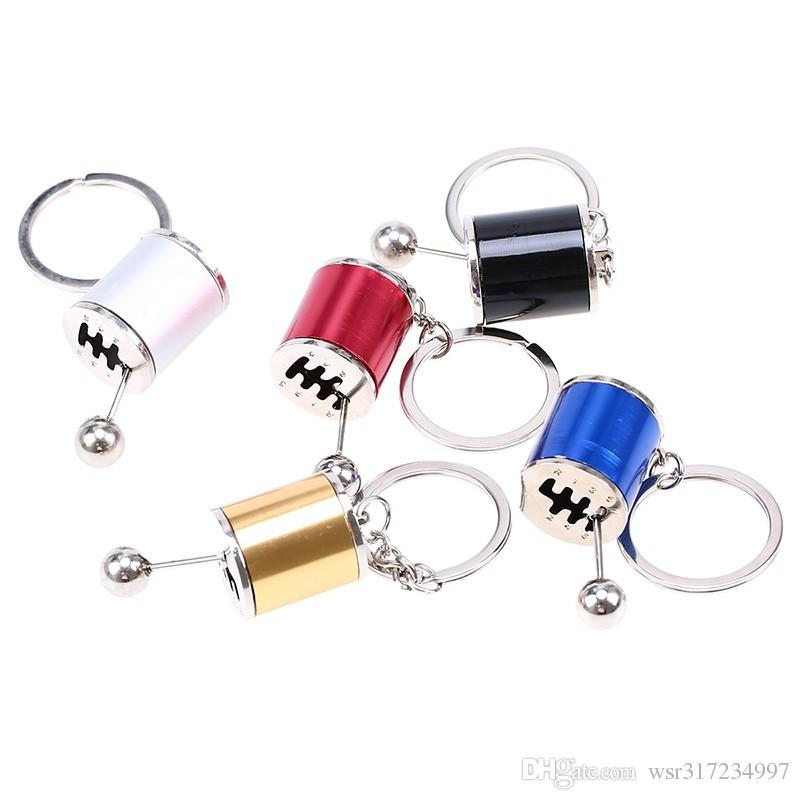 5 색상 자동차 자동 기어 쉬프트 Keychains 자동차 팬 기어 Shifter 스틱 키 체인 Fob 실린더 수정 된 터보 웨이브 키 체인 반지