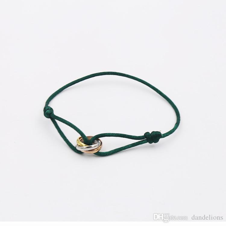 2017 из нержавеющей стали пара золотой цвет Шарм любовь браслет Браслет титана ручной веревки серебряный мода h braceletbangle для женщин ювелирные изделия