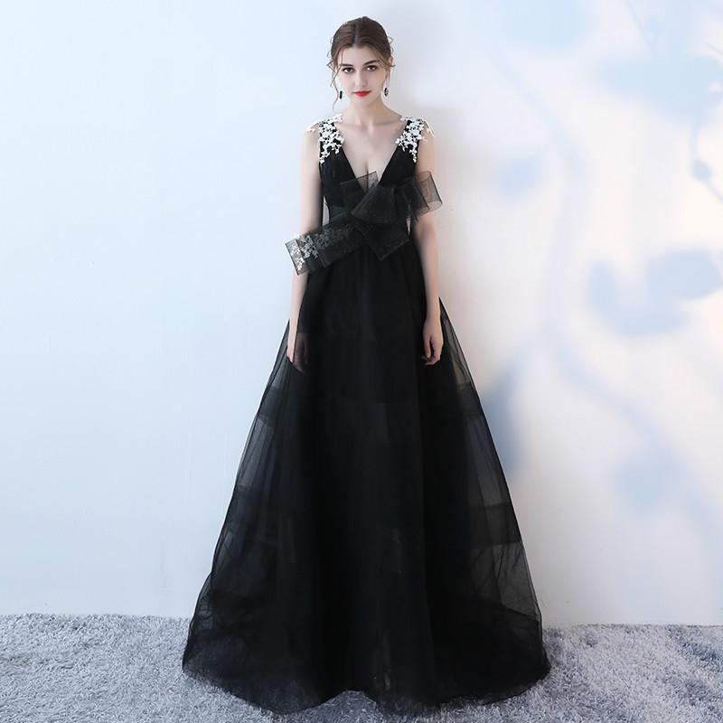 Vestidos de noche elegantes negro