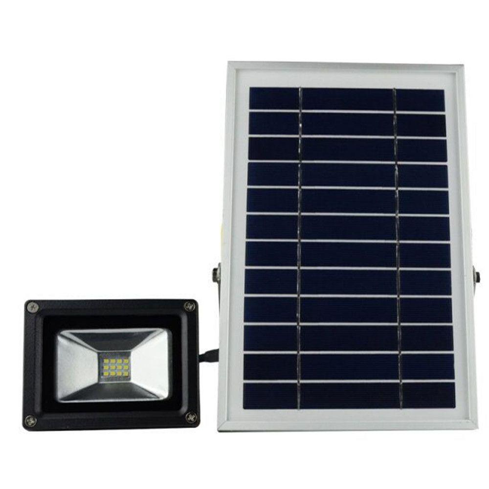 luce di controllo bianco freddo caldo bianco solare di energia solare a LED proiettore da giardino all'aperto impermeabile solare luce spot
